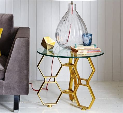glass side tables for living room glass side tables for living room with gold painted table