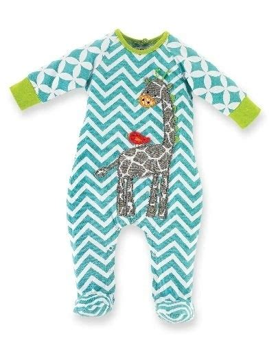 Piyama Sleepy Giraffe new mud pie giraffe sleeper pajamas pj footie blue baby