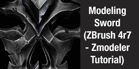 zbrush katana tutorial modeling sword zbrush 4r7 zmodeler tutorial in this