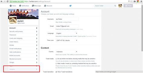 cara membuat timeline twitter di website cara memasang twitter timeline widget di website