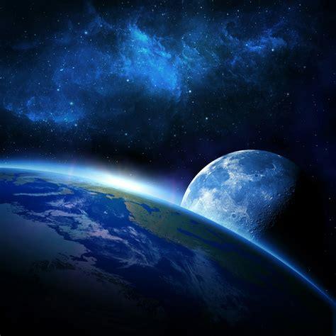 moon   earth fantasy qhd wallpaper wallpaper