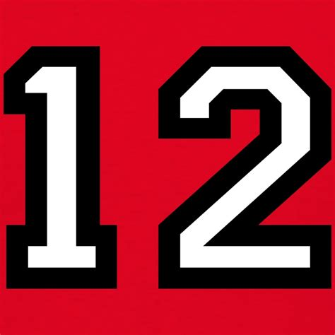 T Shirt 12 the number 12 number twelve t shirt spreadshirt