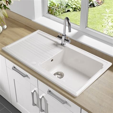 Porcelain Kitchen Sink With Drainboard Best Kitchen Sinks With Drainboard Modern Kitchen 2017