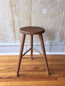 vintage italian wooden stool the seat and three