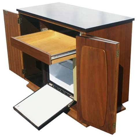 modern bar cabinet with fridge midcentury retro style modern architectural vintage