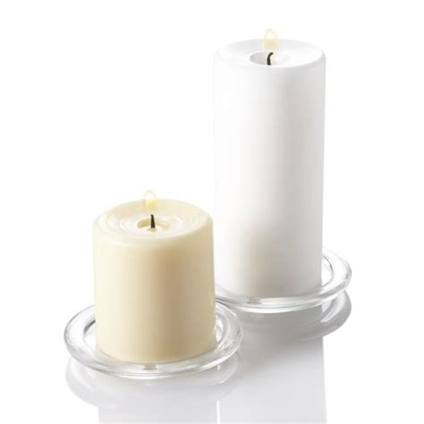 Glass Pillar Candle Holders Set Of 6 Glass Pillar Candle Holders Ebay