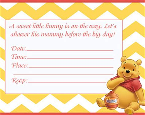 Free Printable Winnie The Pooh Baby Shower Invitations by 14 Warming Winnie The Pooh Baby Shower Invitations