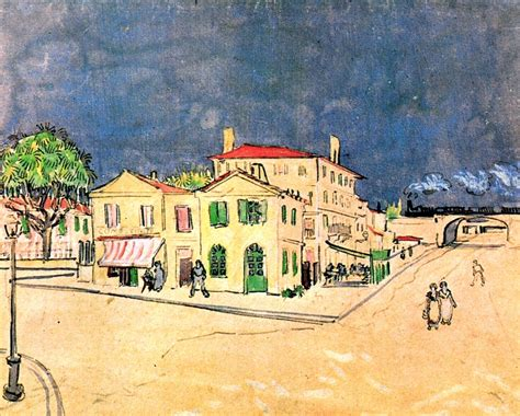 vincent house vincent s house in arles the yellow house 1888 vincent van gogh wikiart org