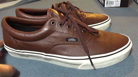 shoe review vans aged leather era s black brown - Vans Boat Shoes Black And Brown