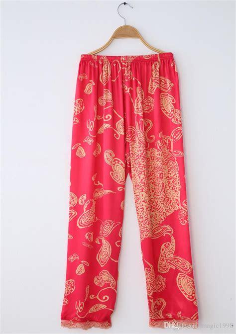 Lover Pajamas Set 2018 pajamas emulation silk pyjama sets fashion