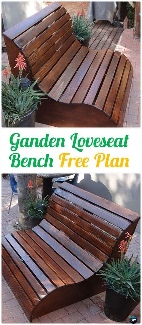 diy outdoor garden bench ideas  plans instructions