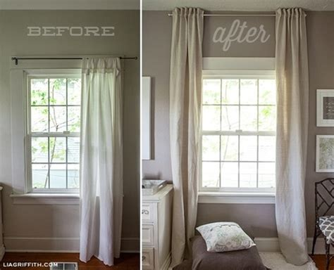 Things To Hang From Bedroom Ceiling by Hang Curtains Up To The Ceiling To Make A Low Ceiling Look