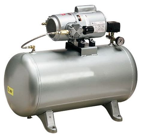 oilless air compressor with 20 gallon storage tank 3 4 hp 115 vac 60 hz from davis instruments