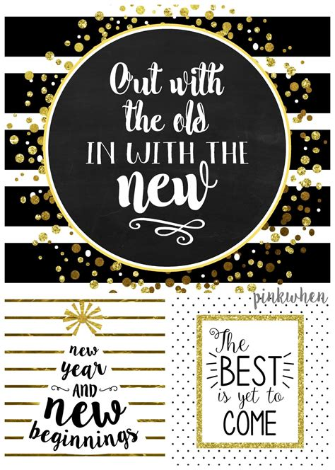 new year decorations to print 3 new years free printables pinkwhen
