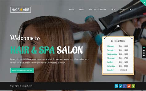 wordpress themes free hair salon 45 best spa beauty hair salon wordpress themes 2018