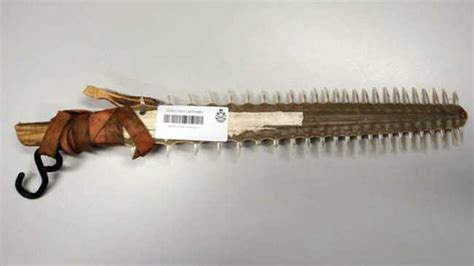 man 32 charged over homemade saw fish weapon in wa s