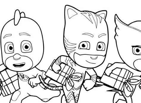 Ninjalinos of PJ Masks Coloring Page   Free Coloring Pages