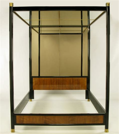 ralph metal mirrors made by henredon henredon mirror black lacquer and walnut canopy bed at 1stdibs