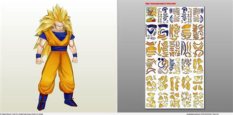 Papercraft Viewer - papercraft pdo file template for z goku