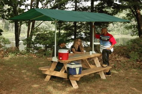 Picnic Table Canopy by Portable Canopies Tents Free Shipping