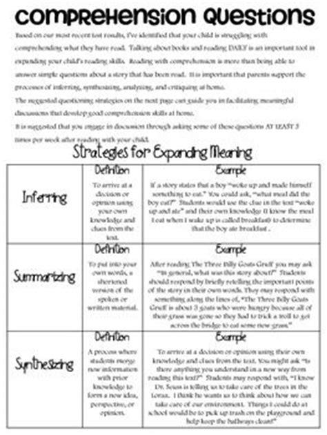 reading comprehension test doc 17 best images about comprehension ideas on pinterest