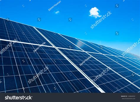 solar panels details detail of a solar panel with blue sky stock photo 126894932