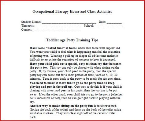 Home Program by Home Program Forms Therapy Zone