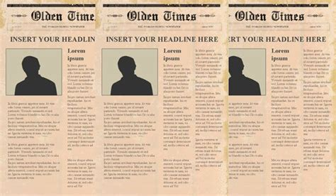 newspaper header template editable newspaper ppt template free website