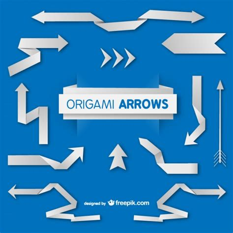 how to make a origami arrow origami paper arrows set vector free