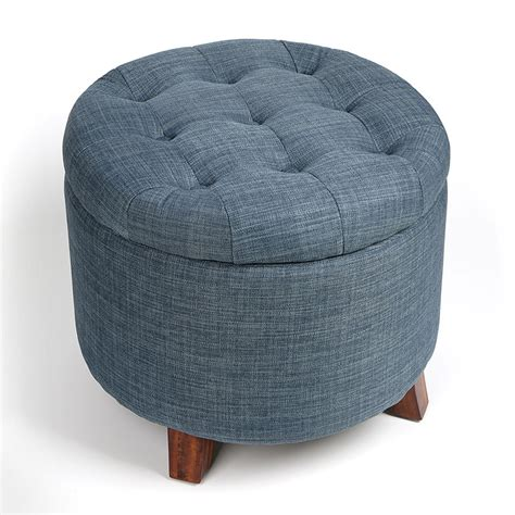 soft ottoman soft round storage footstool ottoman stool with button