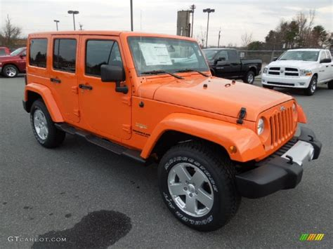 orange jeep wrangler unlimited crush orange 2012 jeep wrangler unlimited sahara 4x4