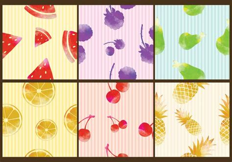 watercolor pattern vector watercolor fruit patterns download free vector art