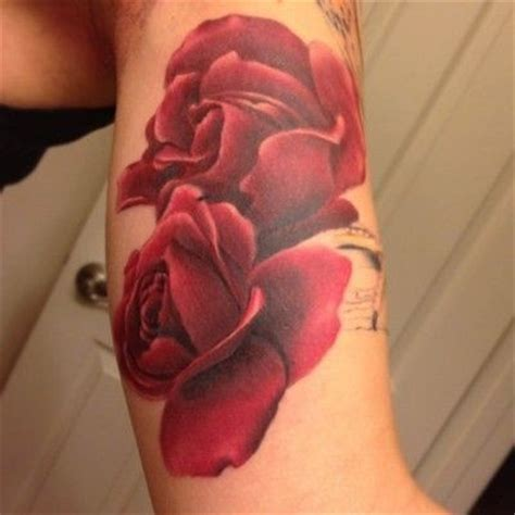 watercolor tattoo no outline two tender roses on tattooimages biz