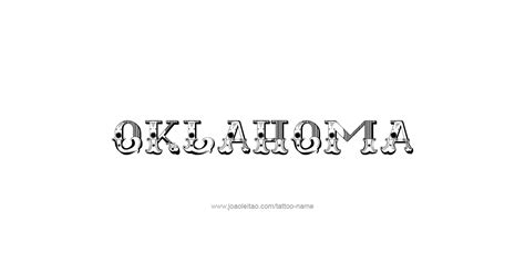 ou tattoo designs oklahoma usa state name designs page 5 of 5