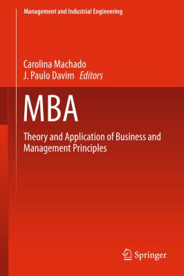 Mba Carolina Strategy by Machado Carolina Davim J Paulo Editors Mba Theory
