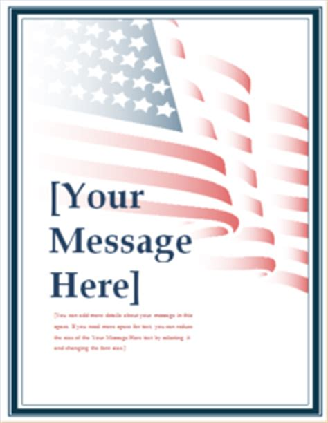 48 Ms Word Editable Flyer Templates For Everyone Templateinn Free American Flag Flyer Template