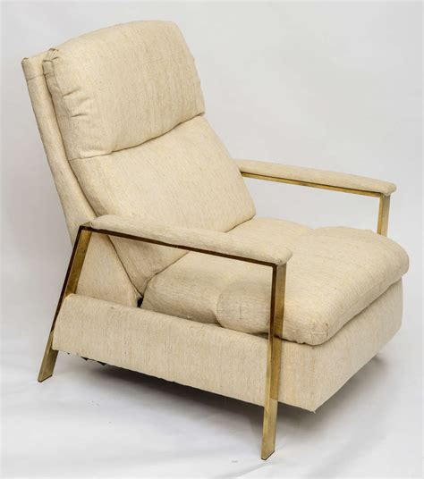 Milo Baughman Brass Recliner 1970s For Sale At 1stdibs