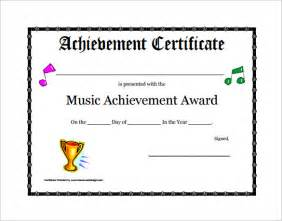 achievement awards templates 6 printable certificate templates free word pdf