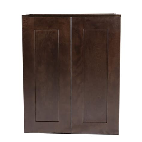 design house cabinets design house brookings fully assembled 24x30x12 in kitchen wall cabinet in espresso