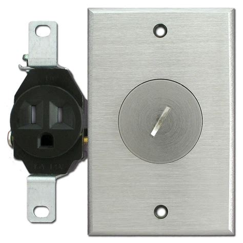 ter resistant single receptacle nickel outlet cover