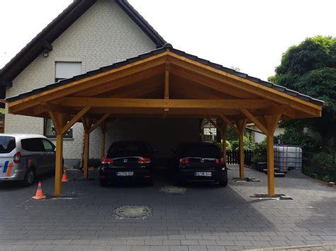 doppelcarport satteldach carport aus holz mit flachdach oder satteldach modul