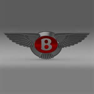 Bentley Emblems Bentley 2012 Logo 3d Model In Flatpyramid 3d Fp3d 3d