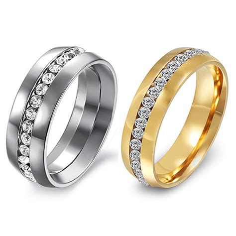 size 11 womens wedding rings sell s s lover rhinestone titanium