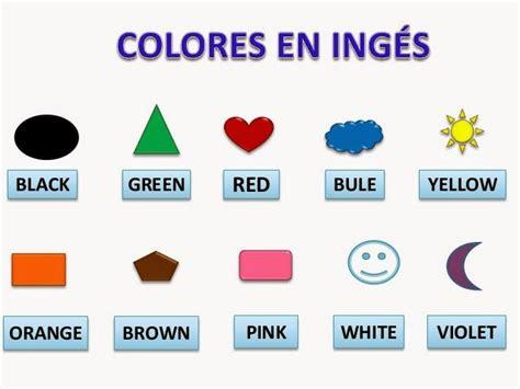 imagenes colores ingles los colores en ingles y espa 241 ol para ni 241 os material para