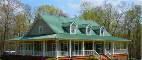 houses with green metal roofs metal products including standing seam metal roofing siding