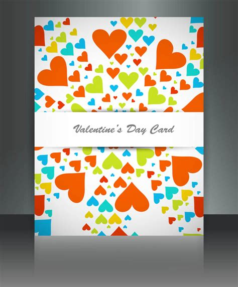 valentines day for brochure template background