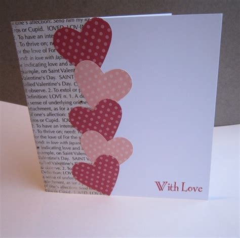 Handmade Valentines Cards For - handmade s card folksy