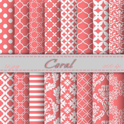 pattern paper scrapbook free coral digital paper scrapbooking papers patterns digital