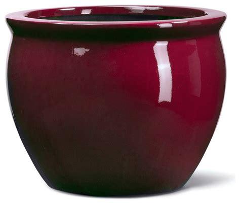 fiberglass fishbowl container contemporary indoor pots