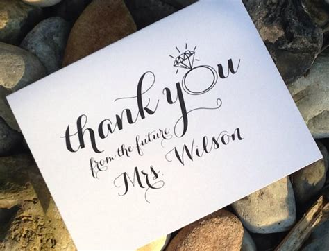 Thank You Card For Bridal Shower Gift - wedding bridal shower thank you cards thank you from the future mrs thank you notes